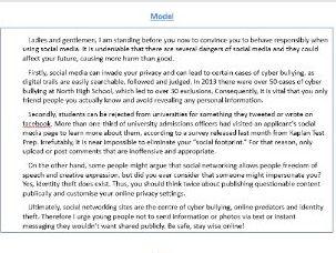 GCSE Paper 2 Writing to argue/ persuade model