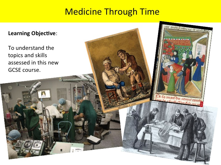 GCSE History 9-1 Edexcel Medicine Overview Lesson