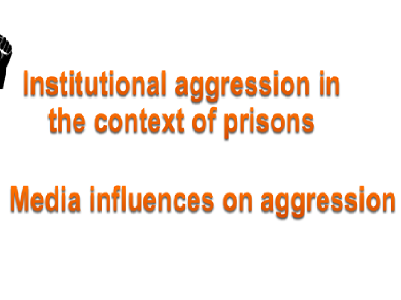 AQA psychology Aggression Institutional aggression Media influences on aggression