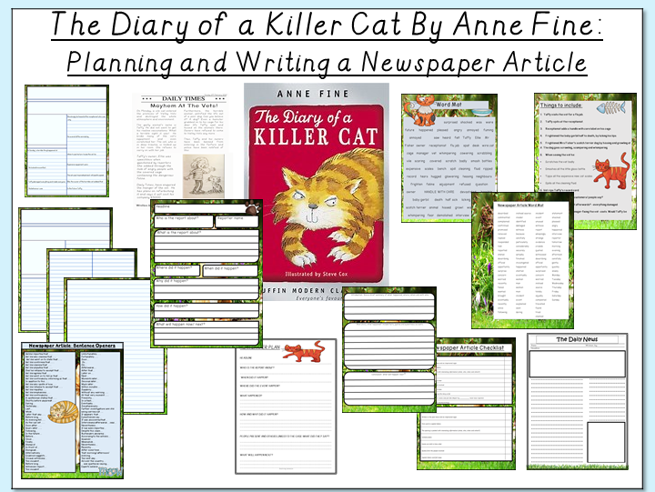 The Diary of a Killer Cat- Planning and Writing a Newspaper Article