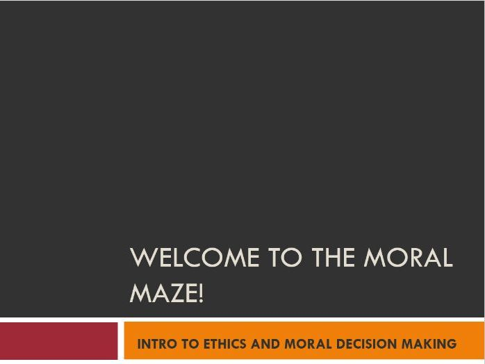 KS3 An Introduction to Ethical Decision Making and Morality