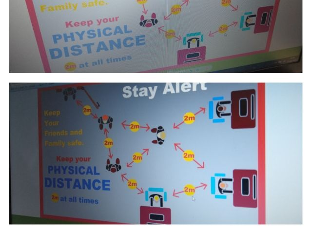 Social Distancing - Physical Distance 2m POSTER - autism-friendly