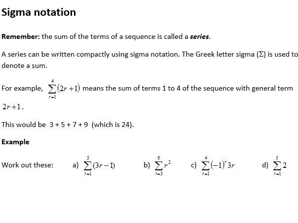 Edexcel New Linear Maths A Level Year 2 Topic 3: Sequences and series