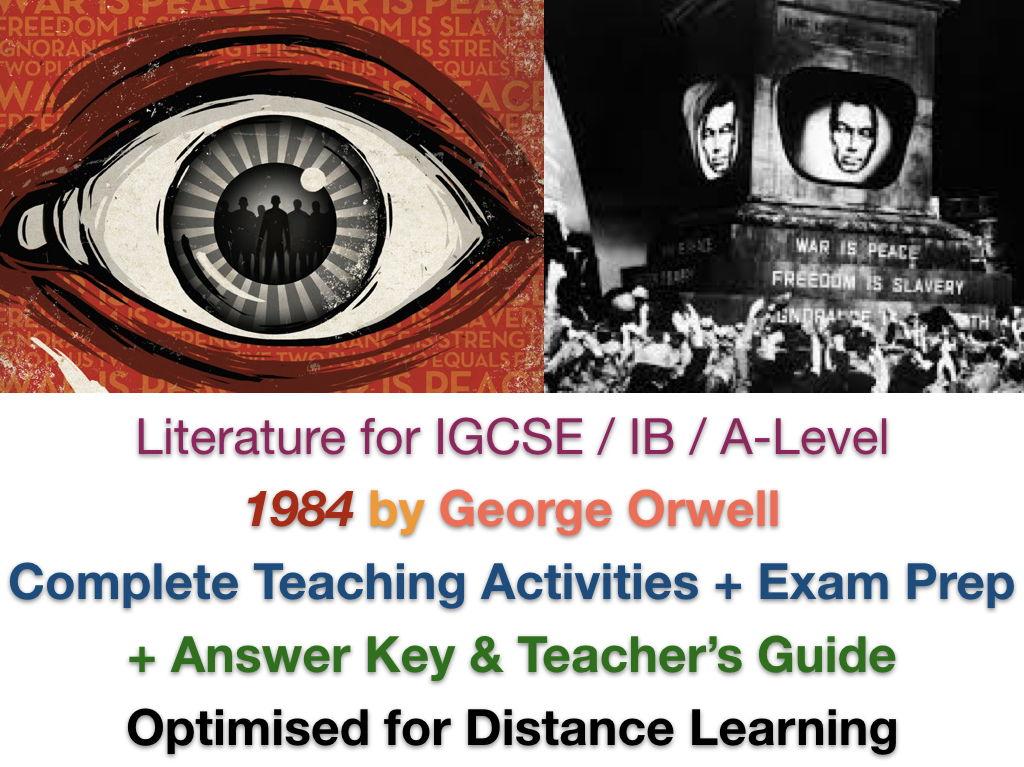 1984 - George Orwell - COMPLETE IGCSE TEACH + EXAM PREP BUNDLE + ANSWERS