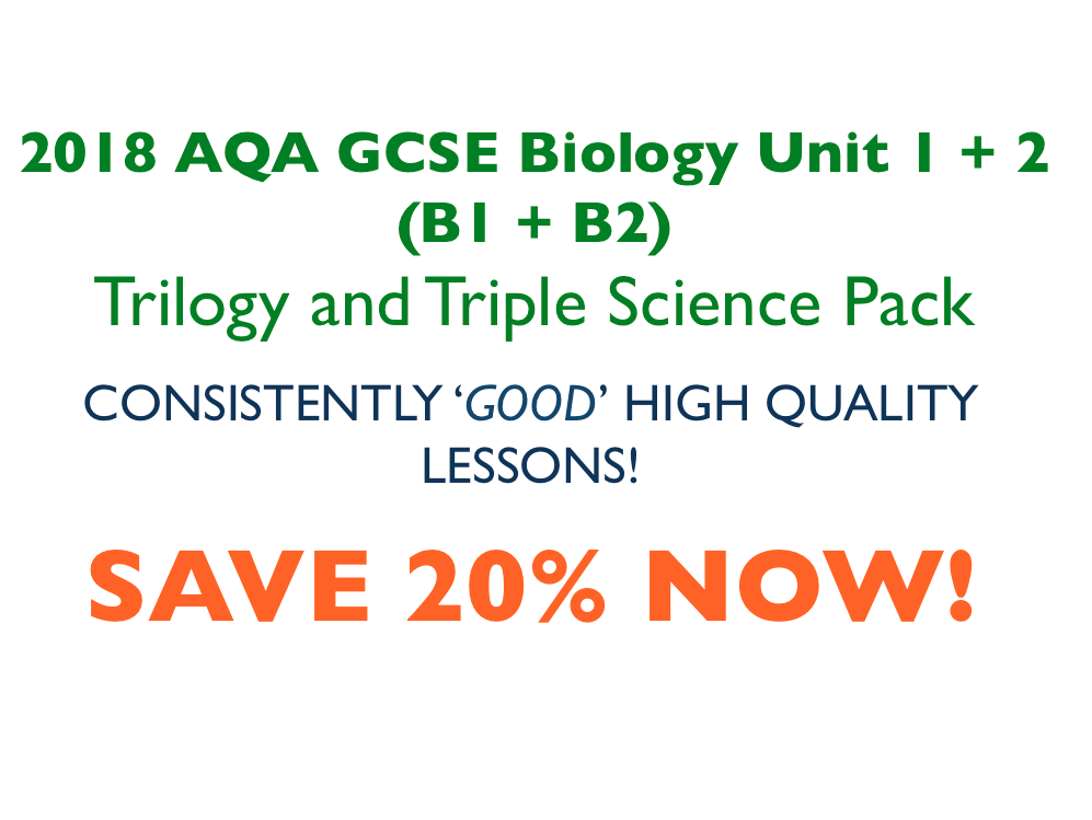 2018 AQA GCSE Biology Full Lesson Pack.
