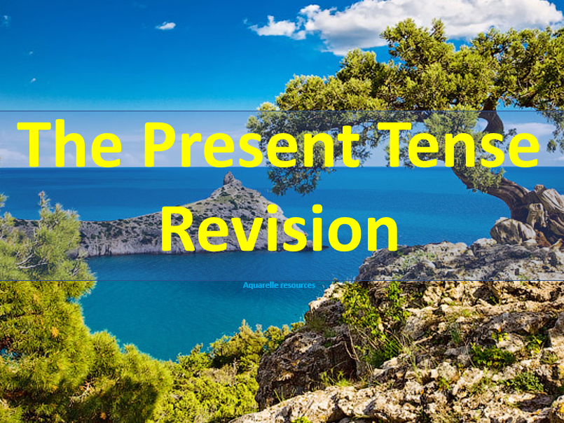 French Present Tense Revision Powerpoint