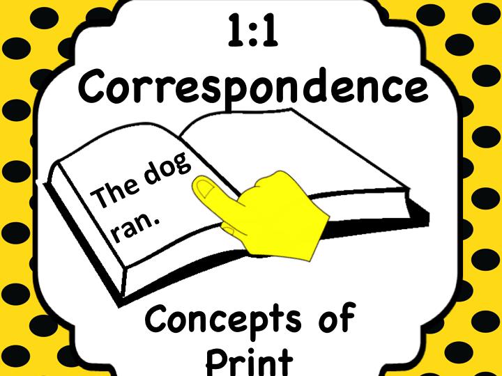 1:1Correspondence - Print Awareness