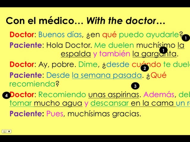 KS3/4 Spanish - ¿Qué recomienda? / What do you recommend? (At the doctor's)