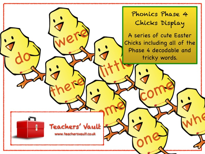 Phonics Phase 4 Chicks Display