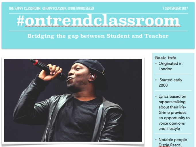 #ontrendclassroom- How to incorporate Grime Music in to your lesson