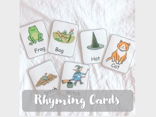 Matching Rhyming Cards - Room on the Broom (Julia Donaldson) / Halloween