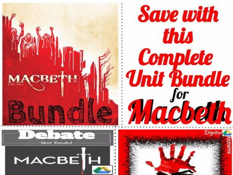 Macbeth Unit Bundle-Lessons, Assessments, Interactive Notebook, Digital & Print!