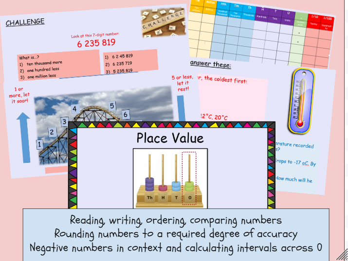 Maths Number and Place Value Year 6 BUNDLE!