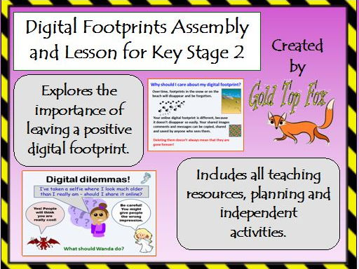 Digital Footprints Assembly and Lesson for Internet Safety (KS1 & KS2 E-Safety)