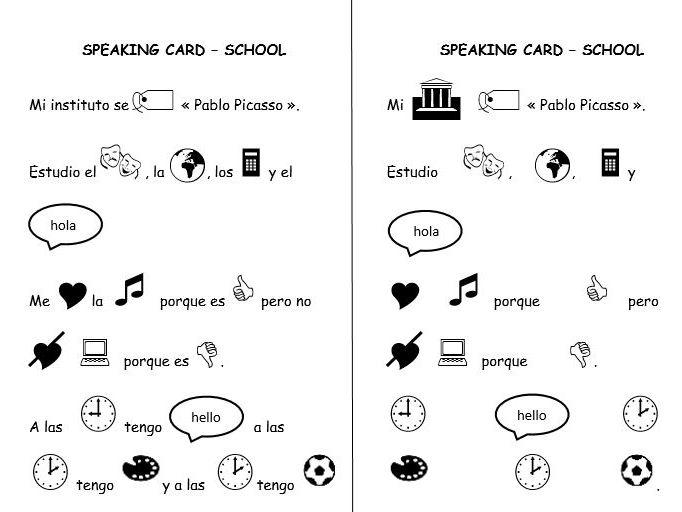 Spanish activities (speaking and writing)