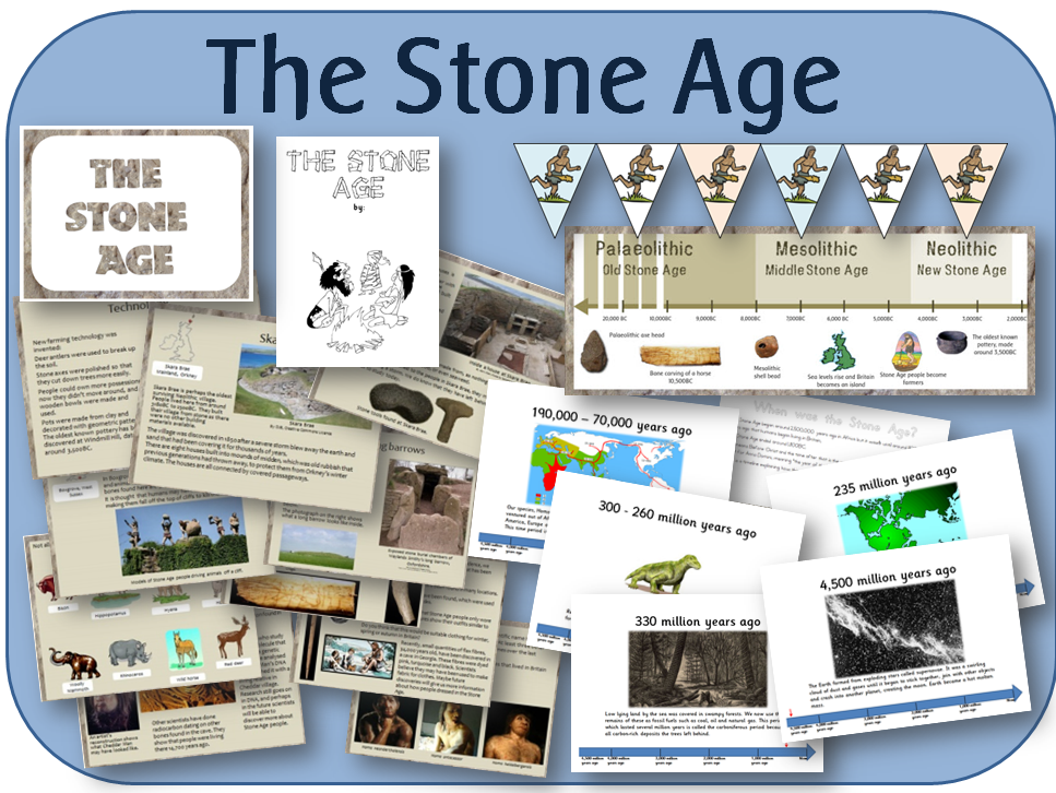 KS2 History Stone Age unit of work pack - PowerPoint lessons, activities and display