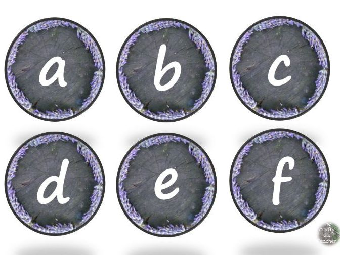 Natural classroom lettering and numbers editable