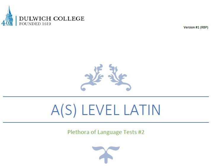 Plethora of Latin Language Tests #2