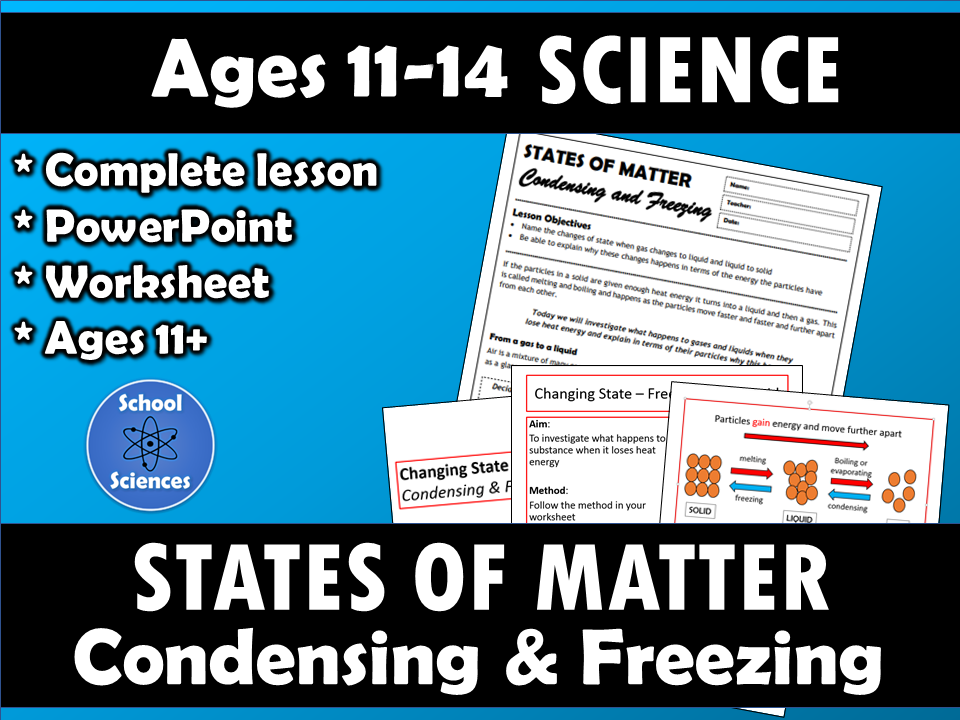 States of Matter: Changing State - condensing and freezing