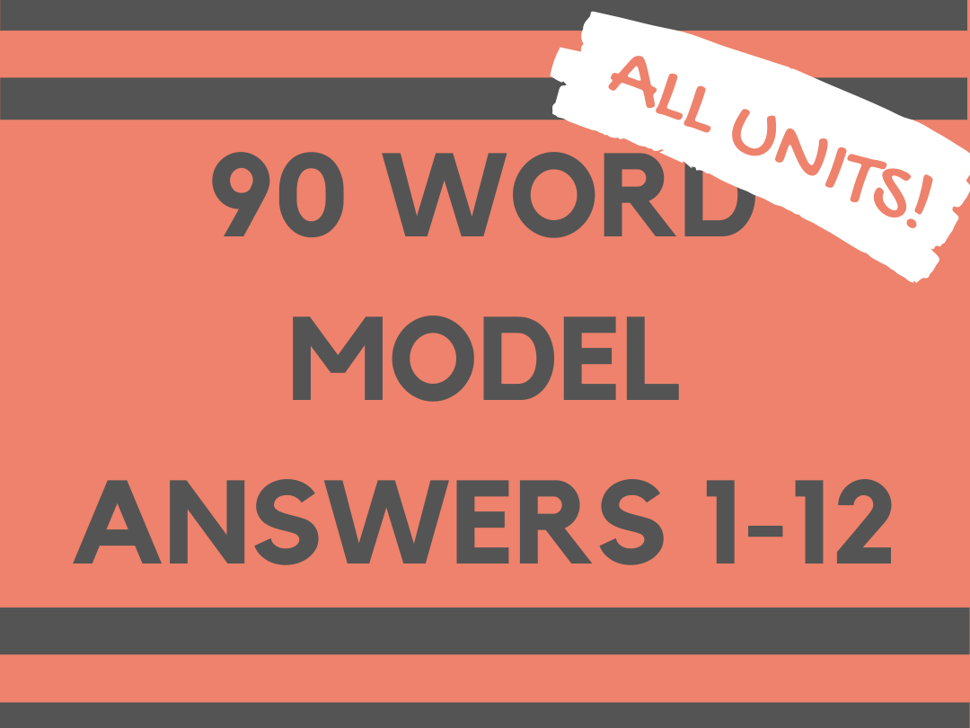MODEL ANSWERS 90 WORD TASKS GCSE SPANISH 1-9 for ALL TOPICS 1-12.