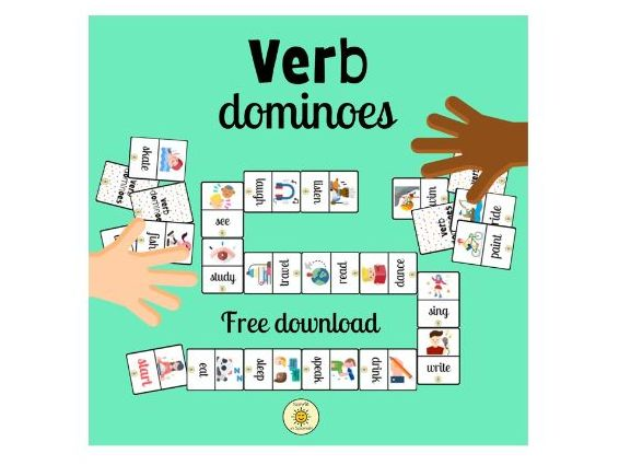 Verb dominoes. A fun way to review/learn English key verbs