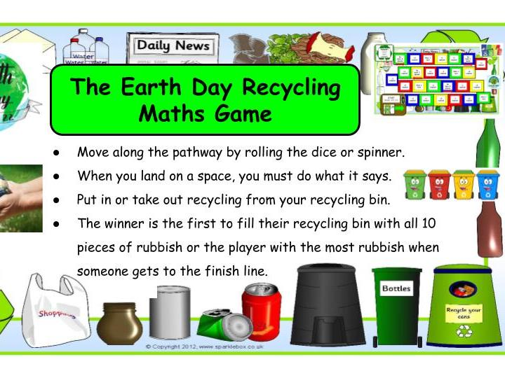 The Earth Day Recycling Maths Game KS1/SEN/EYFS
