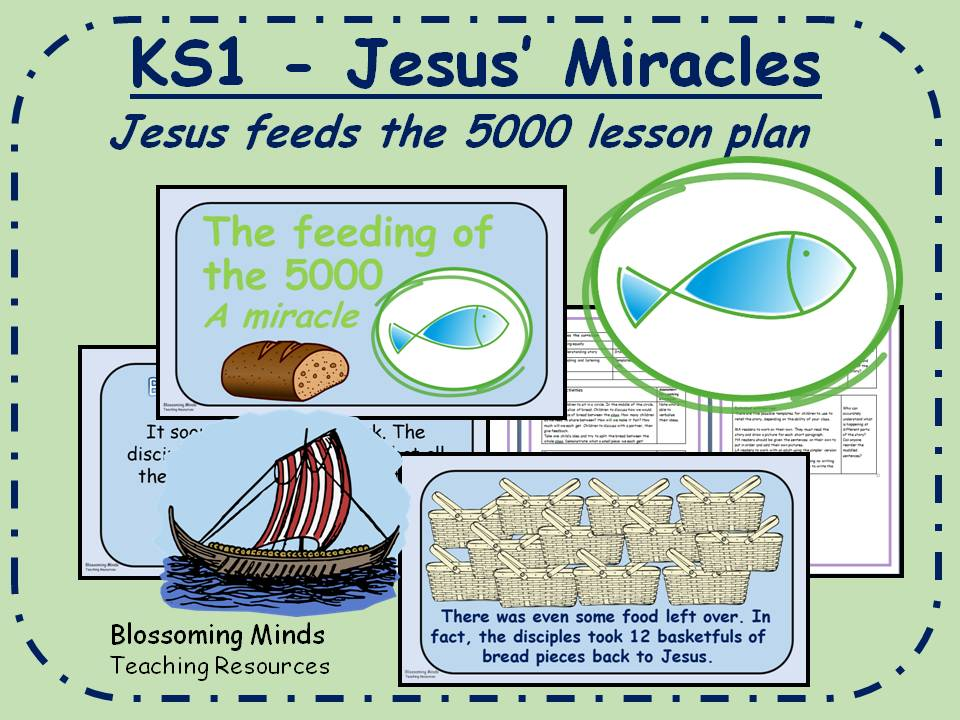 KS1 RE plan - Jesus' Miracles - Jesus feeds the 5000