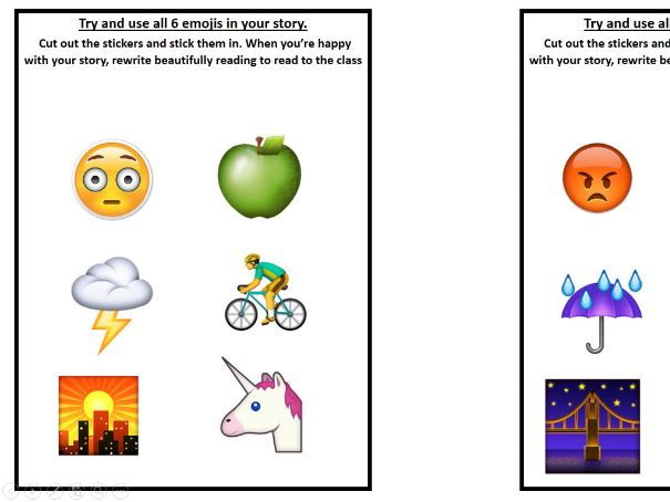 Emoji Story Starter Cards for Creative Writing