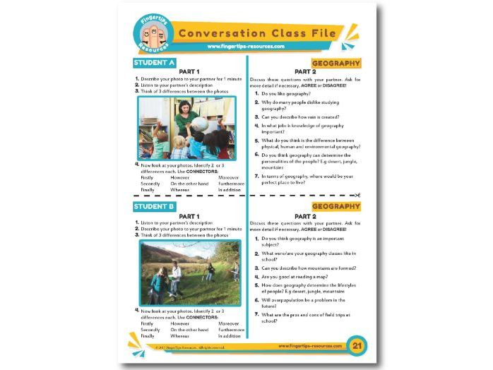 Geography - ESL Conversation Activity