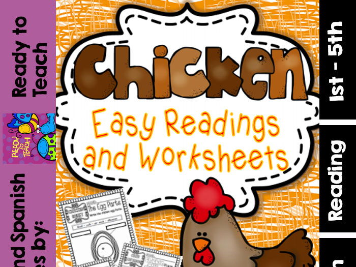 Chicken ( Ready to Print Easy Readings and Worksheets)