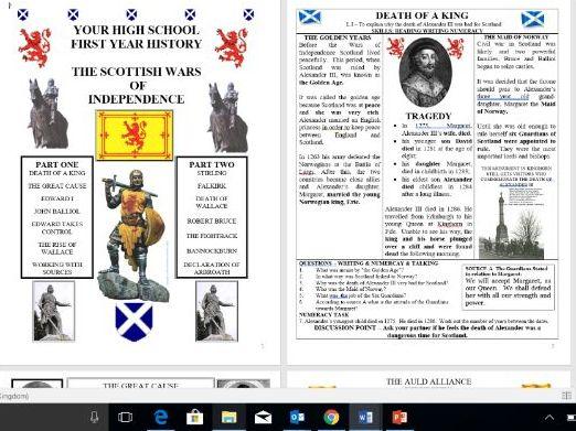 Scottish Wars of Independence Full Unit of Work