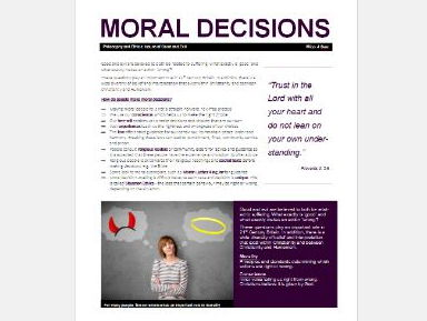WJEC Eduqas Issues of Good and Evil: Making Moral Decisions Exam Booklet