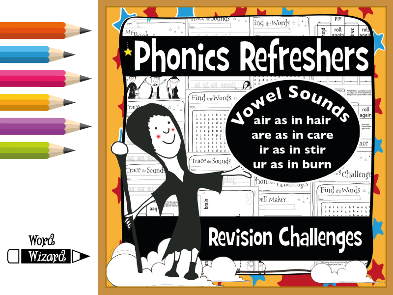 Phonics Refresher Vowels 5: air, are, ir, ur