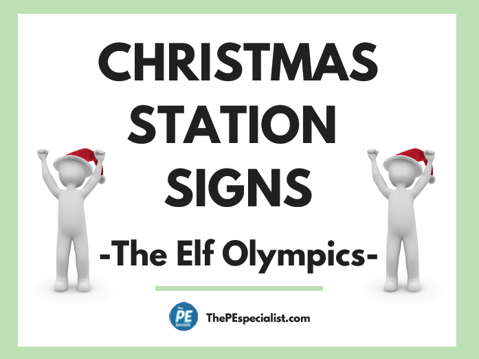 Christmas Activity Station Signs for PE Class