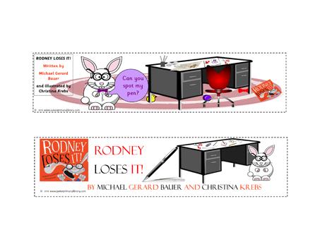 Rodney Loses It! by Michael Gerard Bauer & Chrissie Krebs Bookmarks CBCA Book Week