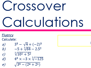 Crossover with Calculations Bundle