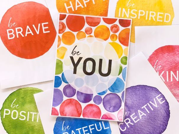 WATERCOLOR PAINT Inspirational Growth Mindset Classroom Posters