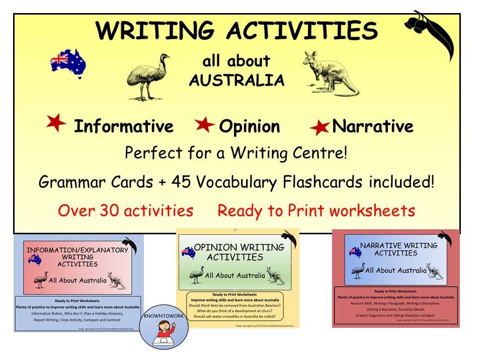 Australia:WritingActivities-PerfectforHomeLearning