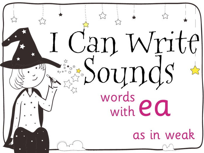 Magic Sounds Phonics Set 41 words with ea (as in weak)