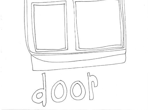 Door: (Buildings. Where We Live)  Colouring Page