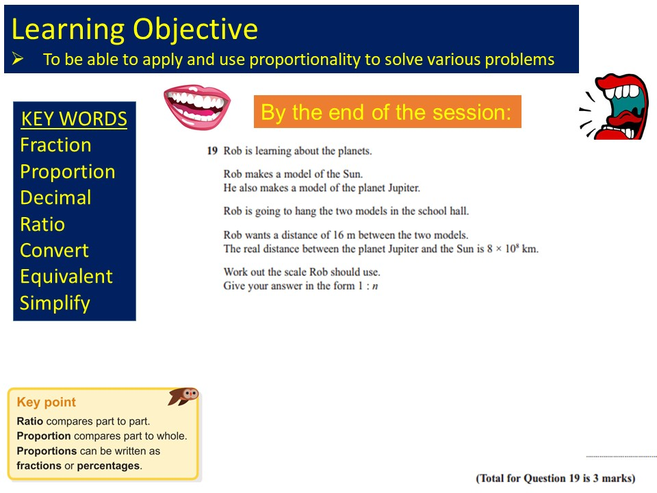 GCSE 1-9 Foundation Proportionality Revision