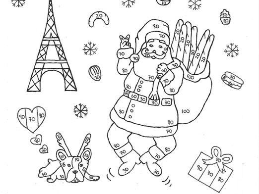 French Christmas color by number | Teaching Resources