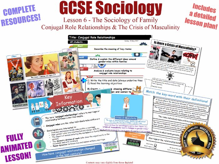 Conjugal Role Relationships - Sociology of Family - L6/20 [ WJEC EDUQAS GCSE Sociology ]