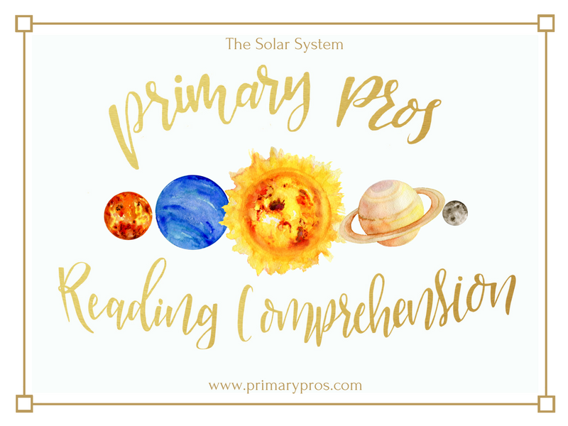 Year 3 & 4 Reading Comprehension - The Solar System