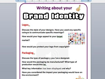 Brand Identity annotation sheets