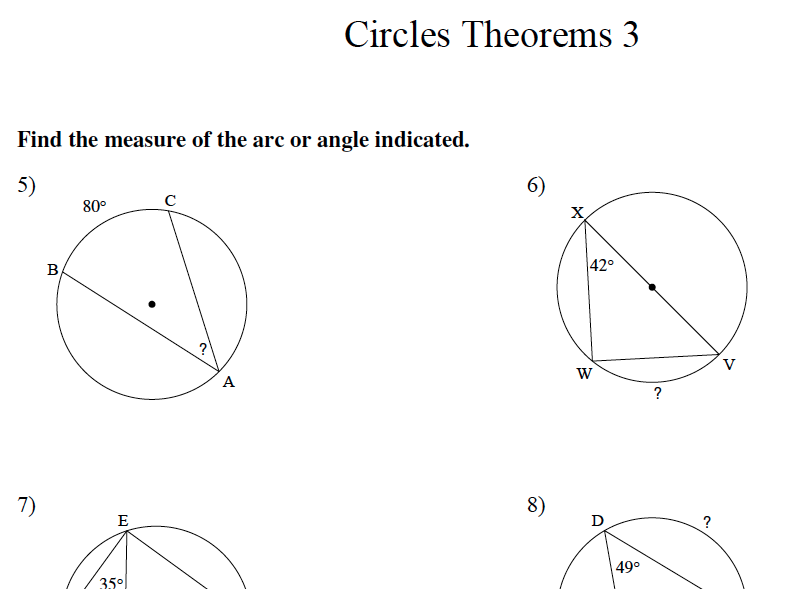 GCSE Maths Revision Circle Theorems 3