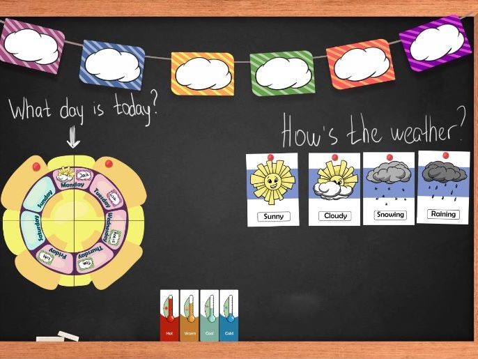 Weather flash cards, Weather board poster, Cloud blank tags and labels