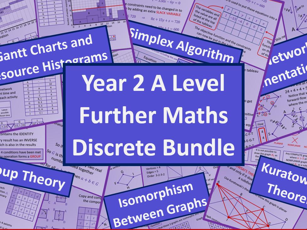 A level Further Mathematics All Discrete Content AQA