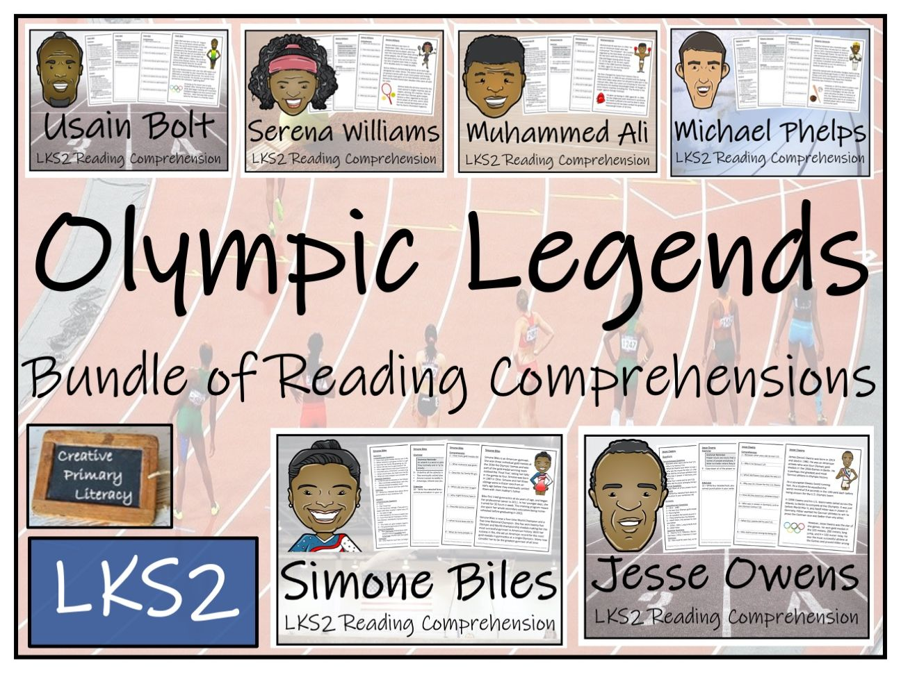 LKS2 Olympic Legends Reading Comprehension Bundle