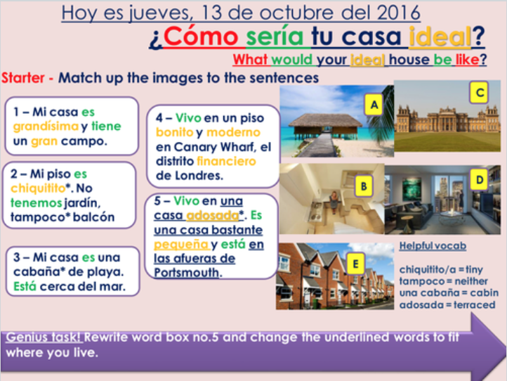 KS3/4 Spanish - House & free time bundle